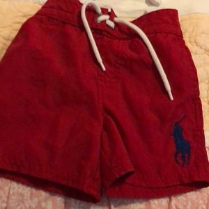 Red swim trunks like new